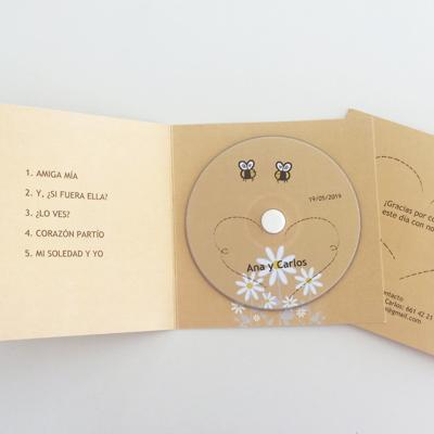 Funda díptico para CD 28x14 cm. (Tamaño abierto)
