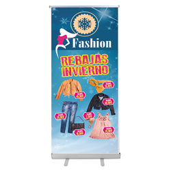 Display expositor roll-up una cara. 200x85 cm.
