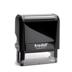 Sello de caucho Trodat 4012 personalizado 4.7x1.8 cm.